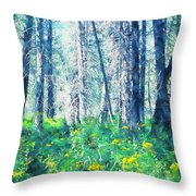 Woods 1 Throw Pillow