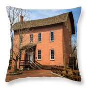 Wood's Grist Mill In Deep River County Park Throw Pillow by Paul Velgos