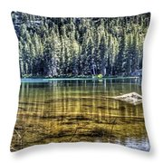 Woods Lake 3 Throw Pillow