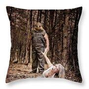 Woods Of Terror Throw Pillow
