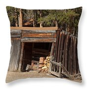 Woodshed On The Holzwarth Historic Site Throw Pillow