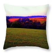Woodstock - Farm - Yasgurs Throw Pillow
