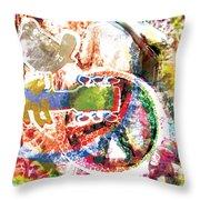 Woodstock Original Painting Print  Throw Pillow