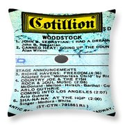 Woodstock Side 1 Throw Pillow
