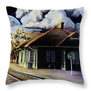 Woodstock Station Throw Pillow