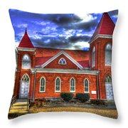 Woodville Baptist Church 2 Throw Pillow