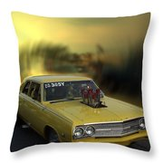 Woodward Ave Michigan Throw Pillow