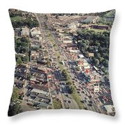 Woodward Avenue Michigan Throw Pillow