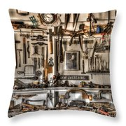 Woodworking Tools Throw Pillow