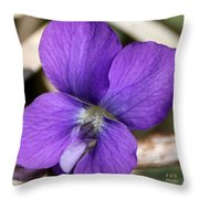 Woody Blue Violet Throw Pillow
