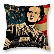 Woody Guthrie 1 Throw Pillow
