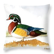 Woody On The Lake Throw Pillow