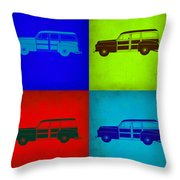 Woody Wagon Pop Art 1 Throw Pillow