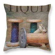 Woolrich Woolen Mill Spools Throw Pillow
