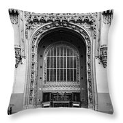 Woolworth Building Entrance Throw Pillow