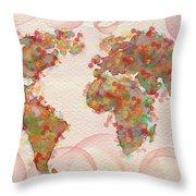 Word Map Digital Art Throw Pillow