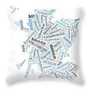 Wordcloud Of Scotland Throw Pillow