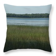 Worden Pond Afternoon Throw Pillow