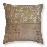 Words Throw Pillow