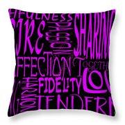 Words Of Love 2 Throw Pillow