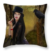 Words Of The Crow Throw Pillow