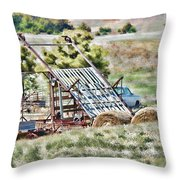 Work Is Done Throw Pillow