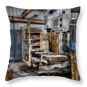 Work Station Machinst Style Throw Pillow