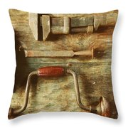 Work Tools Throw Pillow