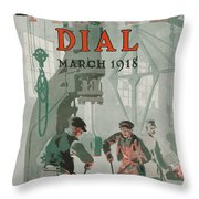 Workers At Shipyard Throw Pillow