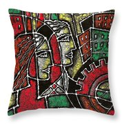 Industrial Composition Throw Pillow
