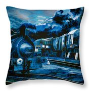 Working All Hours Throw Pillow