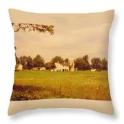 Working Barns And Landscape Throw Pillow