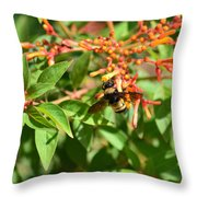 Working Bee Throw Pillow