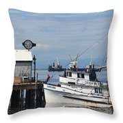 Working Boats Throw Pillow
