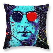 Working Class Hero II Throw Pillow by Chris Mackie