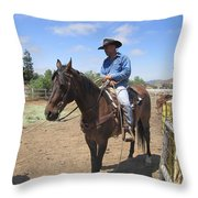 Working Cowboy Throw Pillow