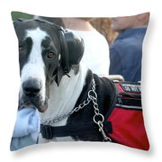 Working Dog Quite Please Throw Pillow