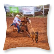 Working Hard Throw Pillow