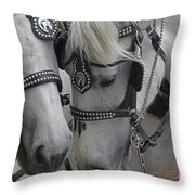Working Horses Throw Pillow