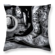 Working Man's Blues Throw Pillow