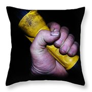 Working Mans Hand Throw Pillow