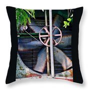 Working Old Fan Throw Pillow