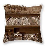Working On The Railroad Throw Pillow