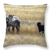 Working Sheep Throw Pillow