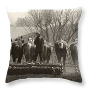 Working Team Throw Pillow