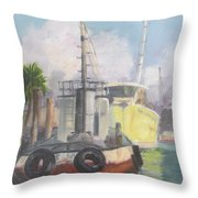 Working Waterfront Throw Pillow