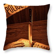 Workplace Violence Throw Pillow
