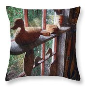 Workshop Window Throw Pillow