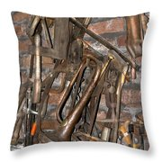 Workshop With Music Throw Pillow