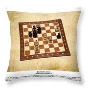 World Chess Champions - Emanuel Lasker - 1 Throw Pillow